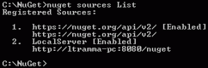 NuGet sources List