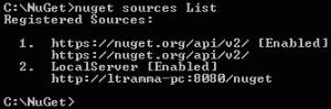 NuGet sources List